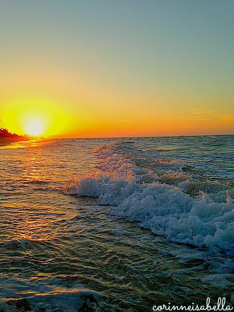 Tuesday's sunset –Namaste'